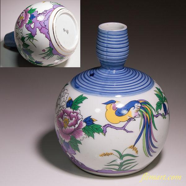 花鳥徳利花瓶W4513