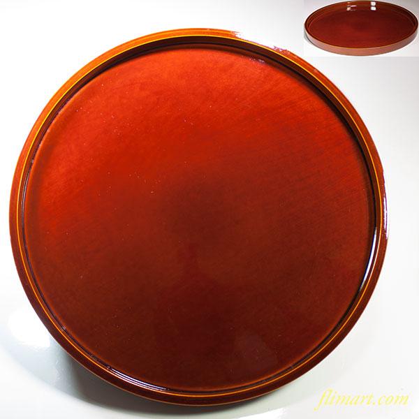 春慶塗一尺丸盆W4565