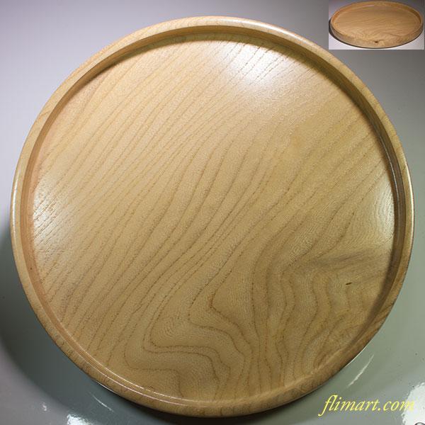 木製一尺一寸丸盆W4501