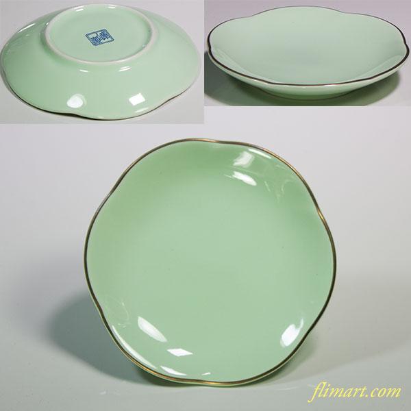 前畑陶器庫山窯豆皿W4535