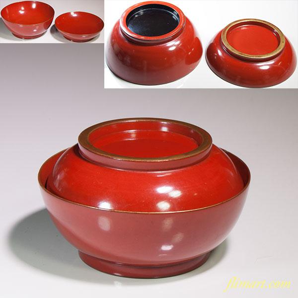 朱塗菓子椀W4645