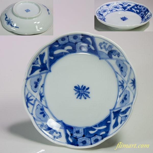染付小皿W4615