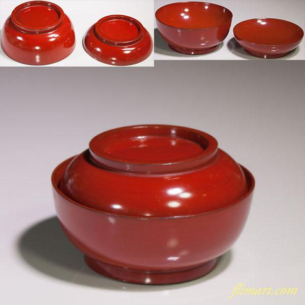 朱塗菓子椀W4603