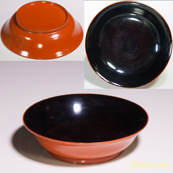 木製漆器小皿W3633