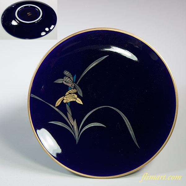 香蘭社瑠璃菖蒲銘々皿