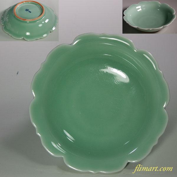 たち吉青磁豆皿W5849