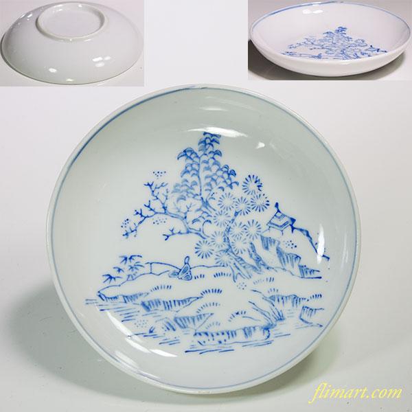 印判手豆皿W4659