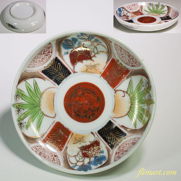 赤絵小皿W4664