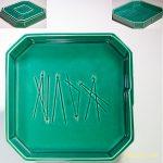 たち吉緑釉松葉八角皿