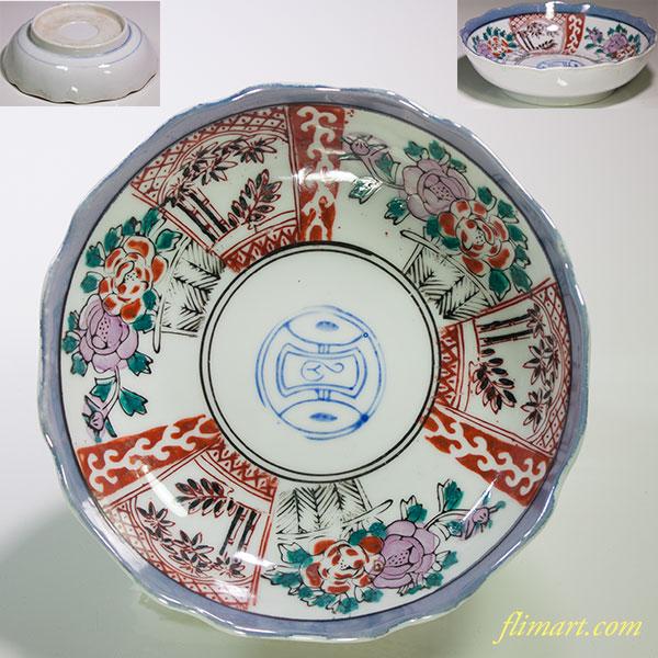 色絵膾皿W4732