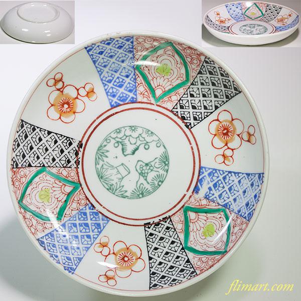 色絵五寸半皿W4737