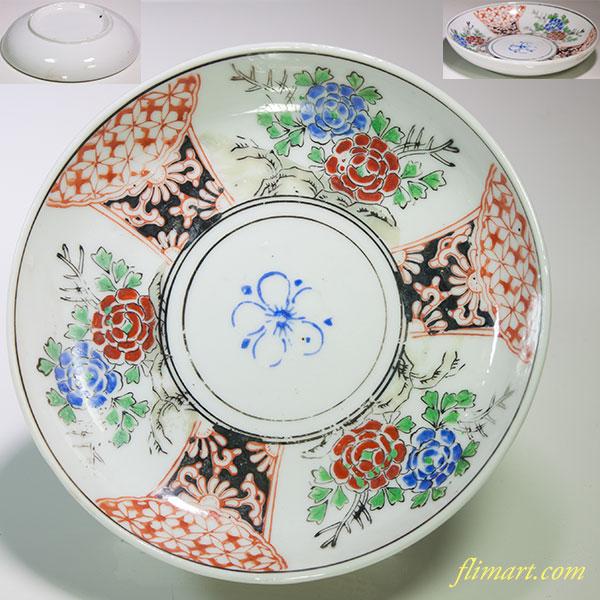 色絵五寸皿W4775