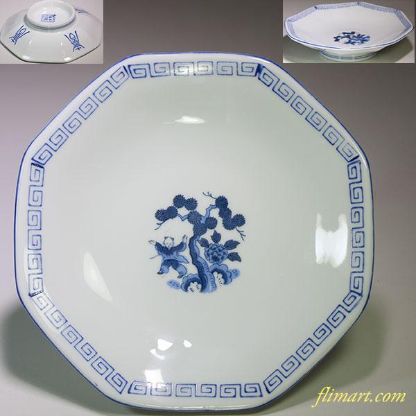 唐子六寸八角皿W4736