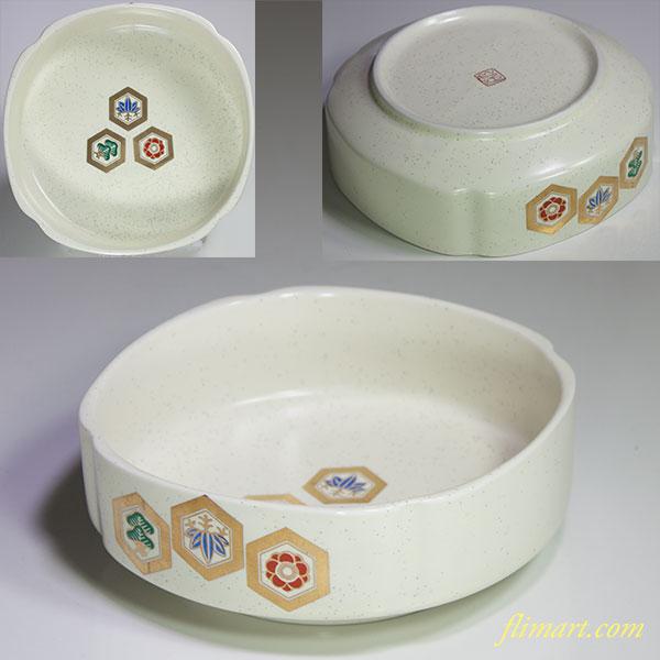 九谷松竹梅亀甲紋小鉢W4709