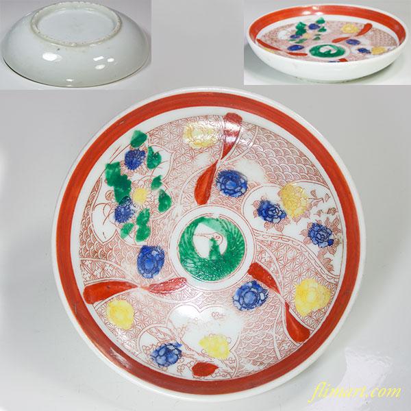 赤絵小皿W4701