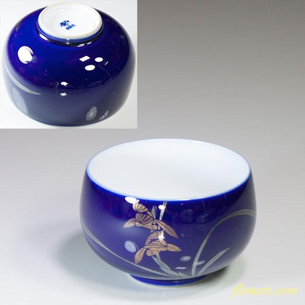 香蘭社瑠璃蘭湯呑W4684