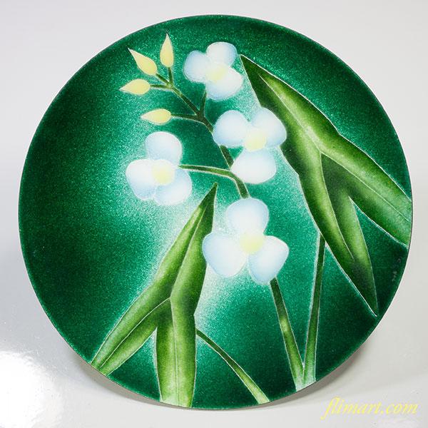 七宝六寸飾皿W4795