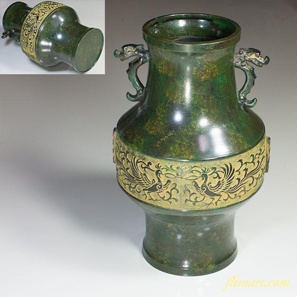 高岡銅器花器W4799