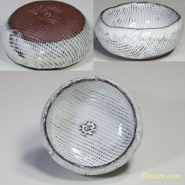 白釉豆鉢W4788