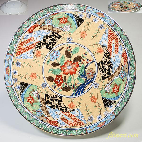 色絵八寸飾皿W4777