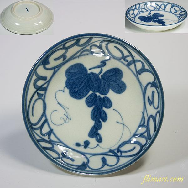 葡萄柄小皿W4845