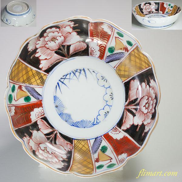 色絵松竹梅膾皿W4810