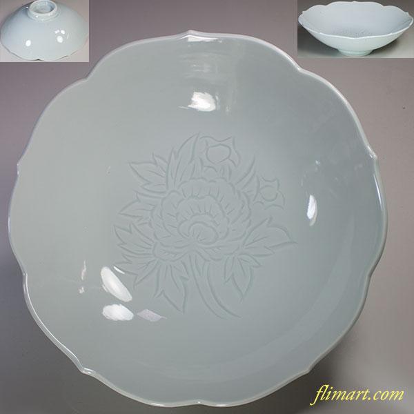 有田焼陶秀窯青白磁八寸鉢