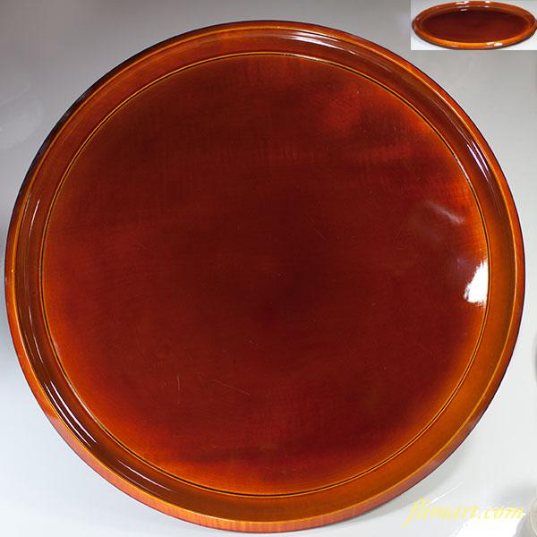 春慶塗一尺二寸丸盆W4822