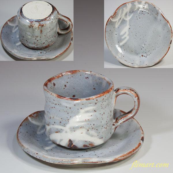 渓峰鼠志野碗皿