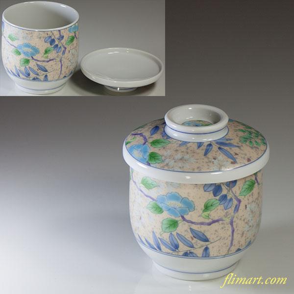 前畑陶器庫山窯花銀彩茶碗蒸