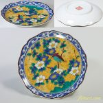 第一陶器九谷吉田屋風花鳥椿カワセミ豆皿