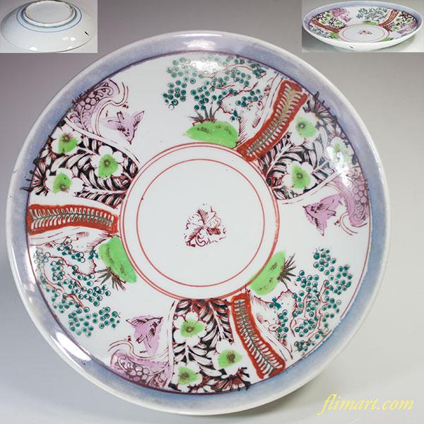 色絵八寸皿W49110