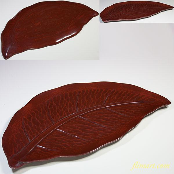 鎌倉彫葉型盆