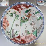 赤絵花鳥八寸鉢W4938