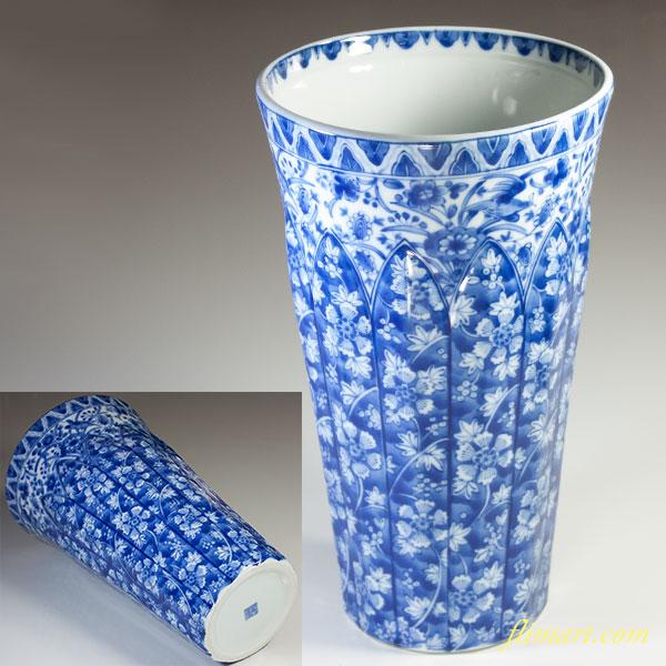 三洋陶器龍峯花更紗花瓶