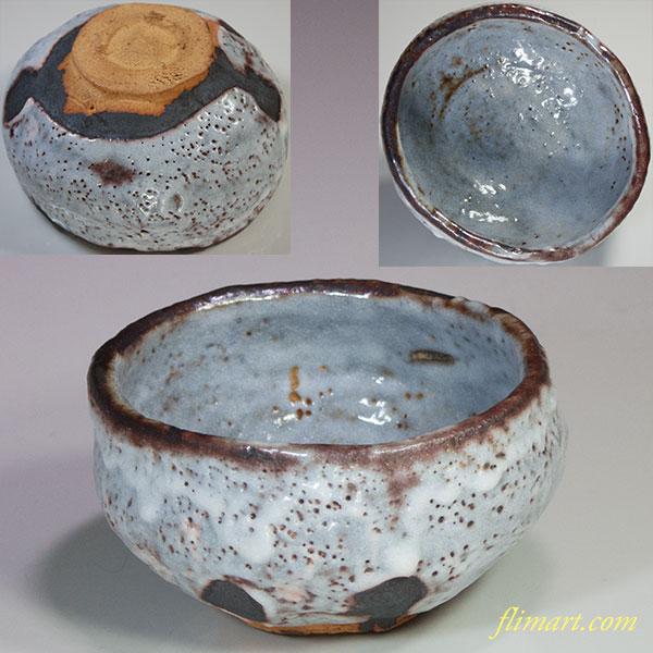 鼠志野抹茶碗W4943