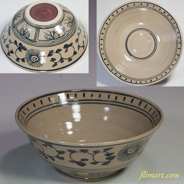 安南抹茶碗W4953