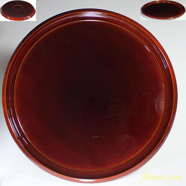 春慶塗一尺二寸丸盆W5315