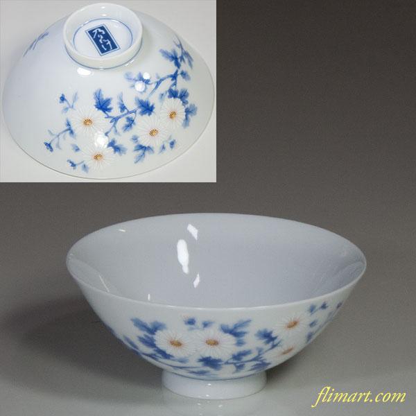 乃りたけノリタケ菊飯茶碗