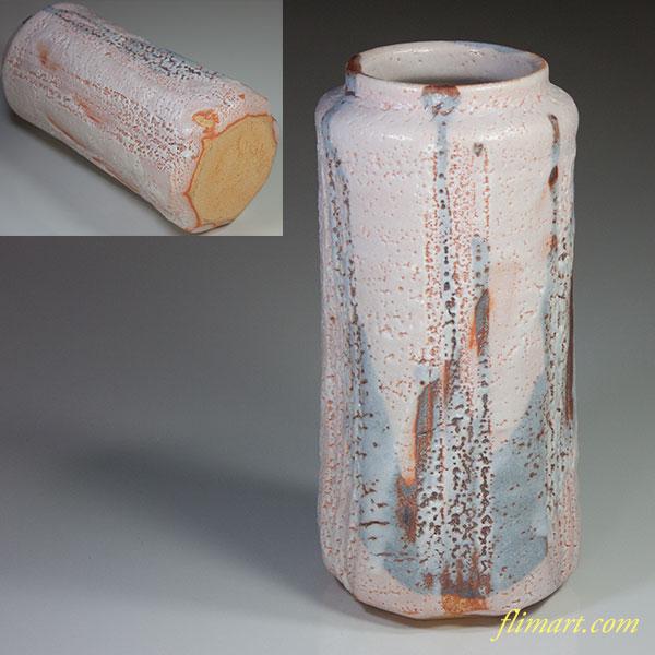 秀山志野花瓶W5049