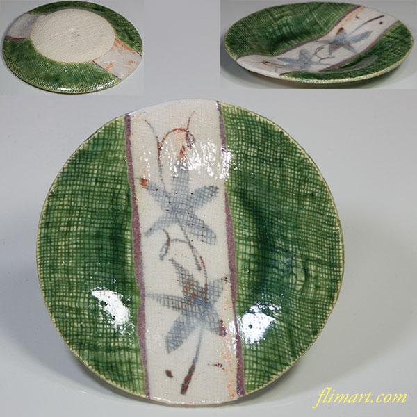 織部清山窯銘々皿五枚セット