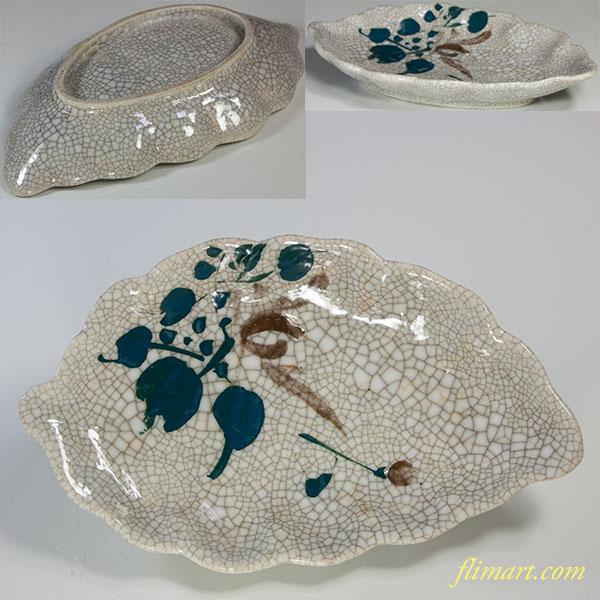 葉型墨貫入皿
