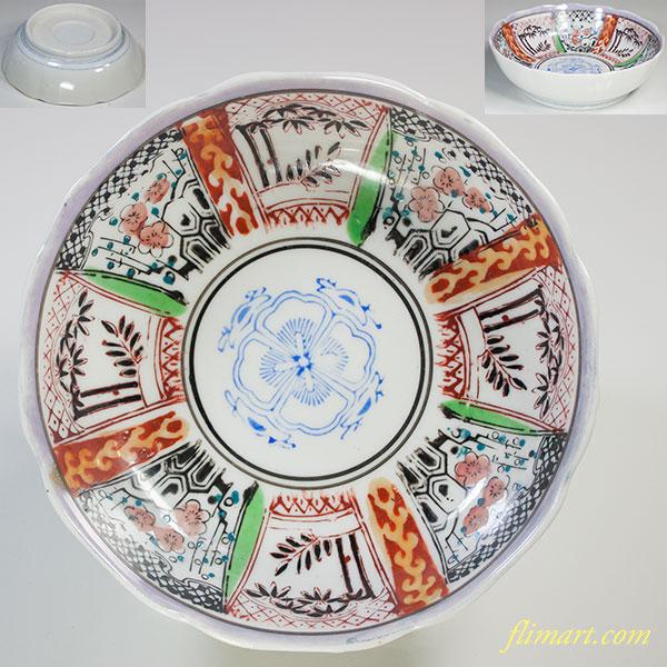 色絵膾皿W5177