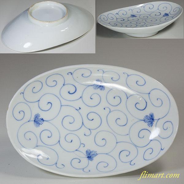唐草小皿W5204