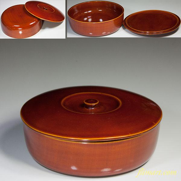 春慶塗蓋付菓子器W5385