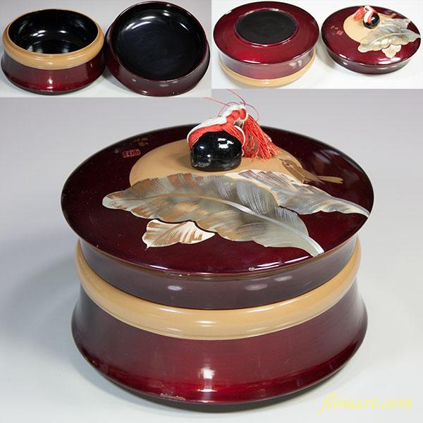 木製漆器菓子器W5232