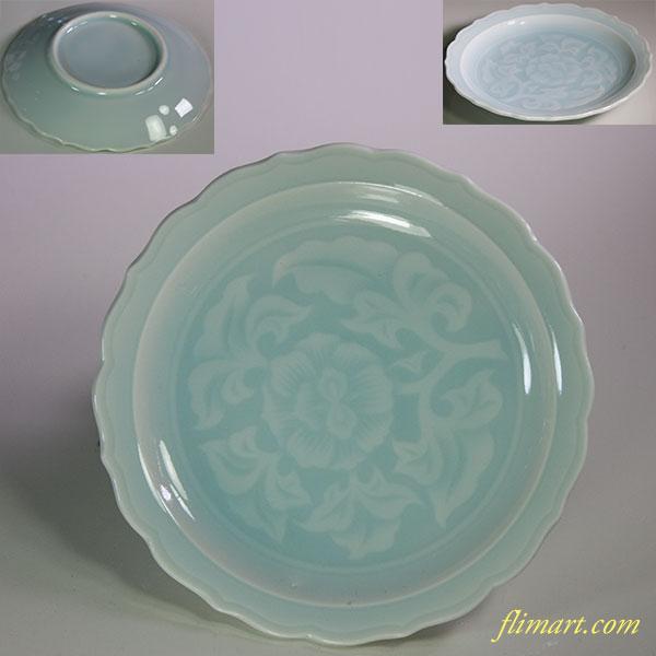 青白磁小皿W5840