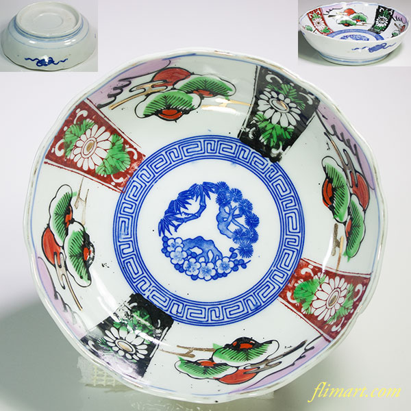 色絵膾皿W5270