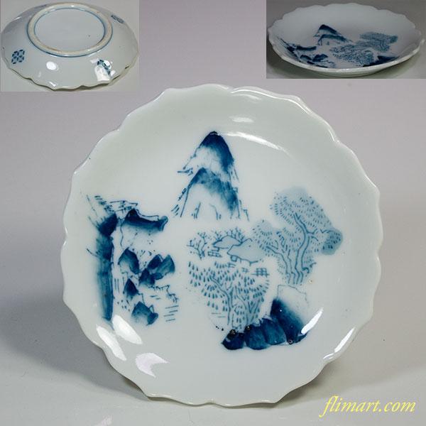 山水小皿W5285