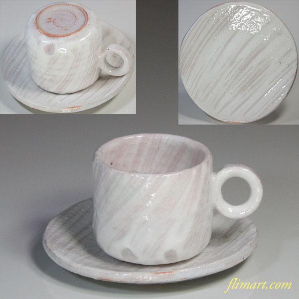 荘山志野碗皿